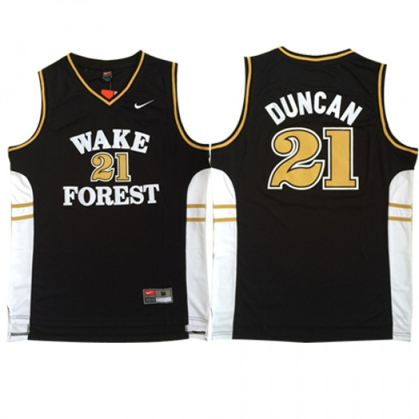 d481537d79e Wholesale Cheap Nike NCAA WakeForest 21 Tim Duncan Jersey Black ...