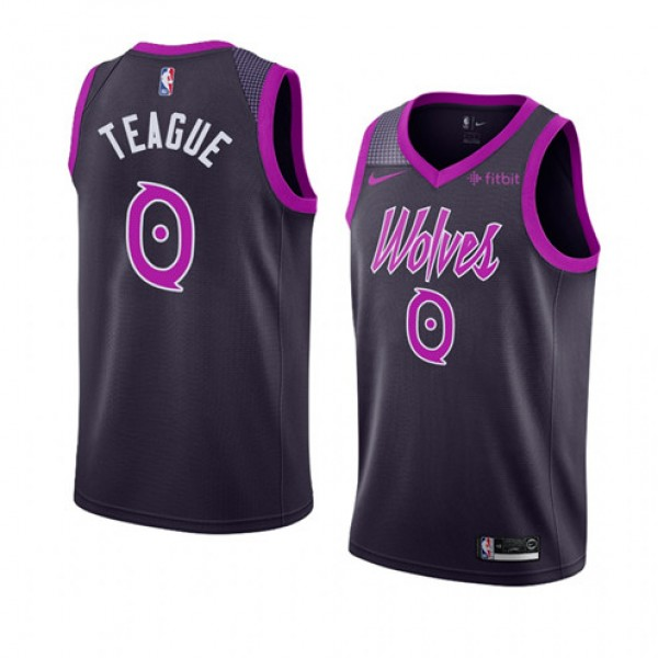 Cheap Jeff Teague Timberwolves City Jersey Navy Purple For Sale f0010277c