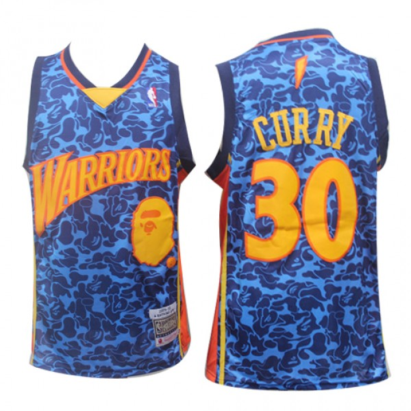 ff7b6b27ae0c Cheap Stephen Curry Warriors NBA Basketball Jersey Joint Bape Sale