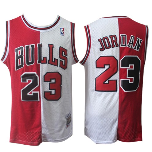 finest selection 20038 94569 Retro Nba Wholesale Michael And Jordan Jerseys Split Red ...