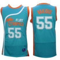 fc99faa518d Flint Tropics 55 Vakidis Blue Semi-Pro Movie Stitched Basketball Jersey