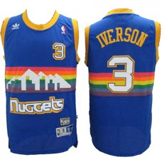 NBA Denver Nuggets 3 Allen Iverson Throwback Jerse... NBA Denver Nuggets 3  Allen Iverson Throwback Jersey Blue Rainbow ... 9e7d97973