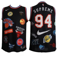 f99adc3a8773 Cheap Supreme X 94 Black Basketball Nike NBA Logo .