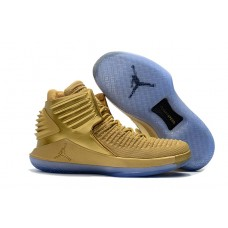 fb6dceabcd87 Air Jordan 32 Metallic Gold Flight Speed Basketbal.