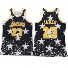 Cheap Lebron James Lakers Black Independence Day R... Lebron James Lakers  Black Independence Day Retro Jersey f1f552232