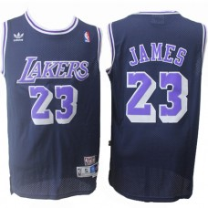 Cheap LeBron James Lakers Throwback Purple Jersey . 5224aefd9