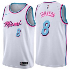 Tyler Johnson Miami Heat Vice City White NBA Jerse. 7c4d84d28